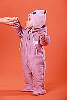 """Дитячий теплий комбінезон """"Noble"""" бузковий. Розмір 68 (сезон весна-осінь), фото 1"""