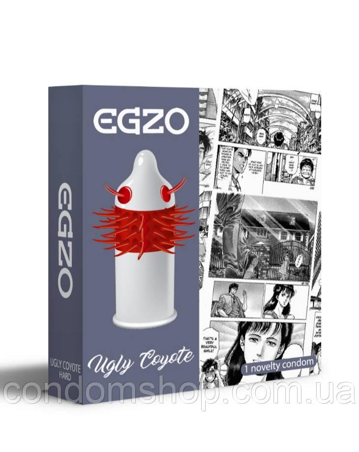 Презерватив-насадка Egzo с усиками UGLY COYOTE