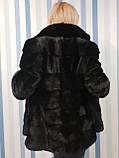 Женская норковая коротенькая шубка в черном цвете, фото 7