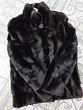 Женская норковая коротенькая шубка в черном цвете, фото 8