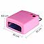Ультрафиолетовая лампа для ногтей 36Вт таймер 120сек 4 лампочки D1001 сушка сушилка гель лака, фото 2