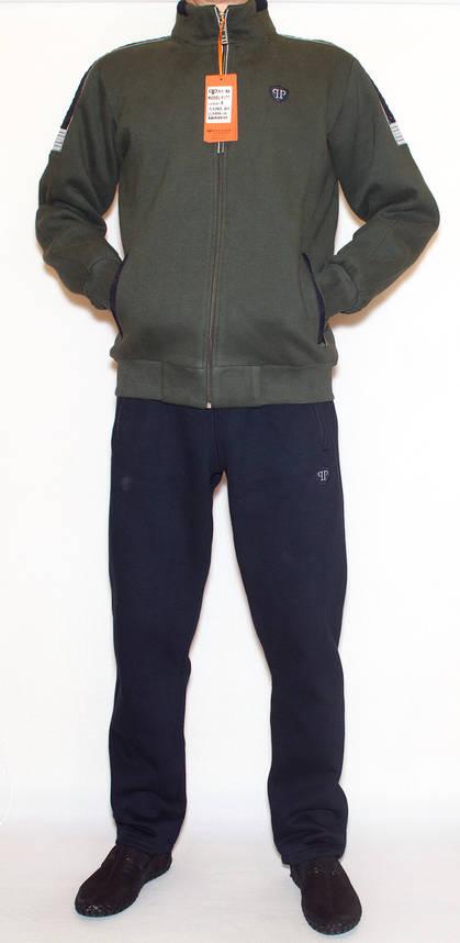 Теплий спортивний костюм чоловічий  PIYERA 5077 (M-3XL), фото 2