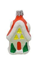 Новогодняя игрушка пластик Домик 7,5см DOTINEM