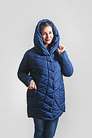 Зимняя модная женская куртка   (холлофайбер)