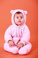 """Утепленный комбинезон """"Мишутка розовый"""" размеры 62,68"""
