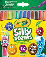 Карандаши Выкручивающиеся ароматизированные восковые мелки (12 шт), Silly Scents, Crayola (52-9712)