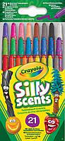 Карандаши Выкручивающиеся ароматизированные восковые мелки (21 шт), Silly Scents, Crayola (52-9621)