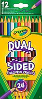 Карандаши Двусторонние цветные карандаши (12 штук, 24 цвета), Crayola (68-6100)