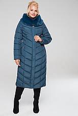 Зимовий жіночий пуховик / пальто Аамаретта мор-хвиля размер 46 48 50 52 54 56 58 60 62 64, фото 2