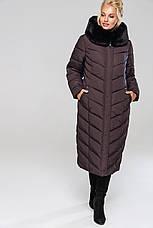 Зимовий жіночий пуховик / пальто Аамаретта мор-хвиля размер 46 48 50 52 54 56 58 60 62 64, фото 3
