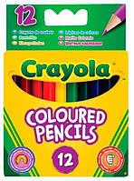 Карандаши Короткие цветные карандаши (12 шт), Crayola (4112)