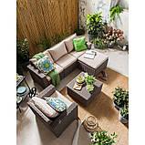 Набір садових меблів Муреа Set Unity Cappuccino ( капучіно ) з штучного ротанга ( Allibert by Keter ), фото 4