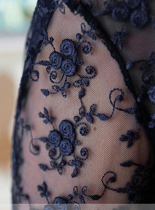 Нарядное платье с вышивкой батал (синий) Украина Размеры: 48,50,54, фото 2