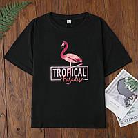 Женская футболка оптом и в розницу с фламинго, фото 1