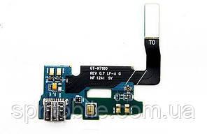 Шлейф Samsung N7100 c микрофоном и коннектором зарядки