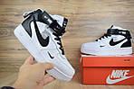 Мужские зимние кроссовки Nike Air Force 1 Mid 07 LV8 Utility (бело-черные), фото 5