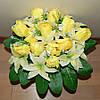 М-474 Букет лилия с тюльпаном 24 головы 45х9 см