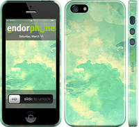 """Чехол на iPhone 5s Зеленые волны """"2696c-21"""""""