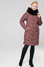 Зимний женский пуховик / пальто Аамаретта 3 кофе размер 46 48 50 52 54 56 58 60 62 64, фото 2