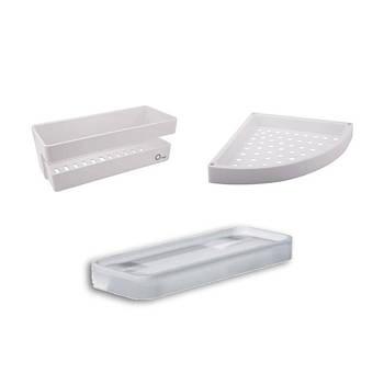 Пластиковые полочки для ванной