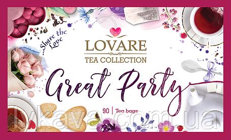 Набір 18 видів пакетованого чаю Lovare Great Party, 90 пак, фото 2