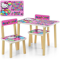 Детский столик с двумя стульчиками 507-49,для девочек HELLO KITTY,размер столика 43*60*40 см.