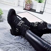 Ботинки женские эуо замша с декором, фото 2