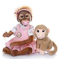Обезьянка реборн,кукла реборн обезьянка 52 см, фото 1