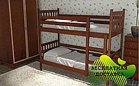 Двухъярусная кровать трансформер Чип и Дейл из массива бука