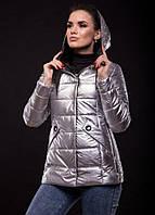 Куртка женская Exclusive 20456 утепленная серебристая