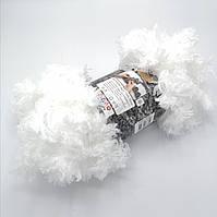 Фантазийная меховая пряжа Puffy Fur, цвет белый