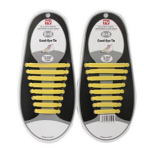 Шнурки силиконовые Good-Bye Tie радуга желтые 150070