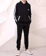 Спортивные штаны Quest Wear 20428 черные с рефлективными лампасами, фото 1