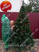 Ёлка исскуственная 2м+гирлянда в подарок.