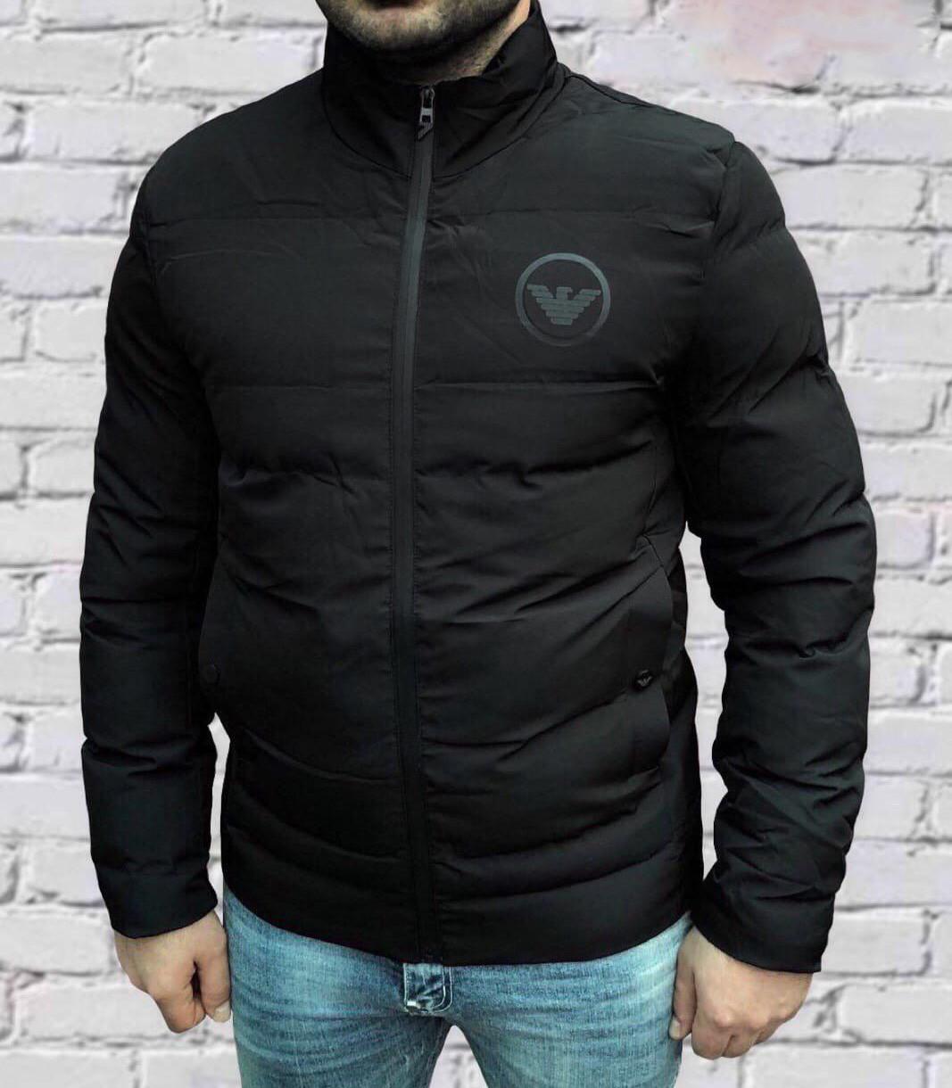 Куртка мужская Armani D8283 черная
