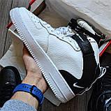 Кросівки чоловічі Nike Air Force 1 07 Mid LV8 D8336 Black & White, фото 2