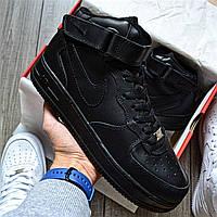 Кроссовки мужские Nike Air Force 1 Mid D8340 Black, фото 1