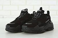 Кроссовки мужские Balenciaga Triple S 20419 черные, фото 1