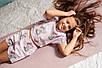 Хлопковая пижама  Eirena Nadine (785-52) для девочки подростка 152/38 розовый, фото 6