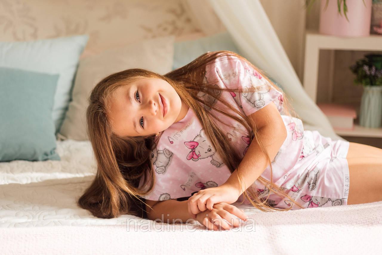 Хлопковая пижама Мишки Eirena Nadine (785-52) для девочки подростка 152/38 розовый