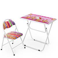 Детский столик со стульчиком Hello Kitty Bambi DT26-KT Розовый