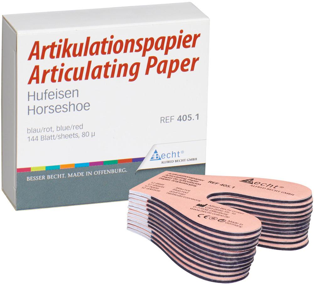Артикуляційний папір Becht підкова синьо/червоний 80µ, 144 арк (Німеччина)
