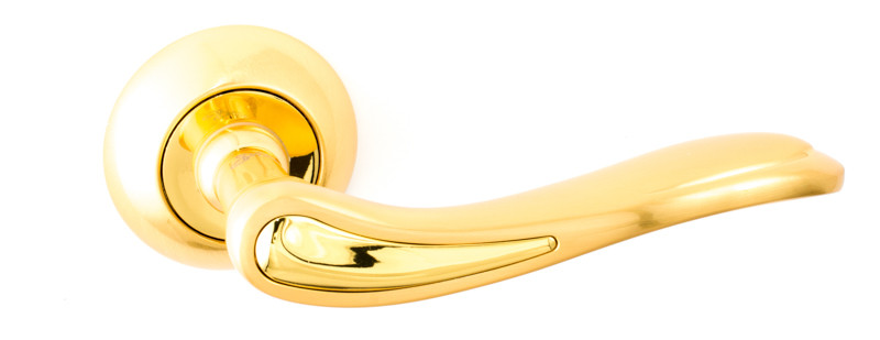 Дверні ручки Safita 240 R47 матове золото/золото