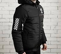 Зимняя мужская куртка (черная, зеленая)