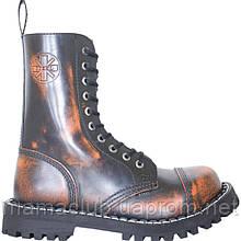 Высокие ботинки Steel серо-оранжеые 10 дырок 105-106/O/ORG/B