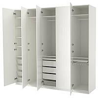 PAX Шкаф, белый, Sörumsand белый, 250x60x236 см