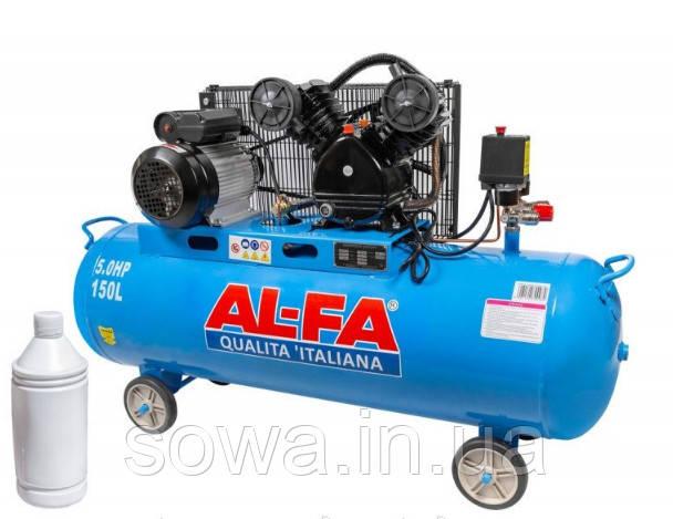 ✔️ Компрессор AL-FA ALC-150-2: 150 літрів (2 поршня) . 3,8 кВт