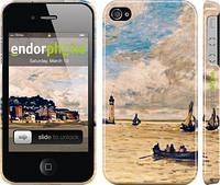 """Чехол на iPhone 4 Маяк и лодки """"166c-15"""""""