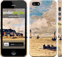 """Чехол на iPhone 5 Маяк и лодки """"166c-18"""""""