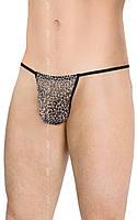 Мужские трусы-стринги Mens Thong 4531 - grey panther, S/L
